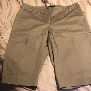 Brown Bermuda dress pants